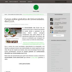 Cursos online gratuitos de Universidades dos E.U.A.