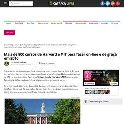 Mais de 800 cursos de Harvard e MIT para fazer on-line e de graça em 2016