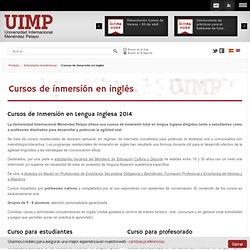 Cursos de inmersión en inglés - UIMP