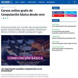 Cursos online gratis de Computación básica desde cero