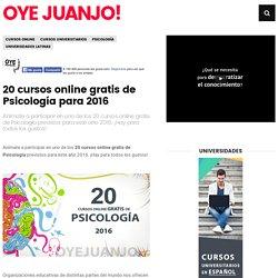 20 cursos online gratis de Psicología para 2016