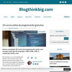 20 cursos de programación gratis que puedes comenzar ya
