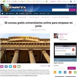 39 cursos gratis universitarios online para empezar en junio