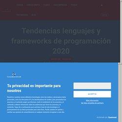 Tendencias lenguajes y frameworks de programación 2020 — CursosDesarrolloWeb
