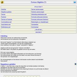 cursus algebra, deel 1