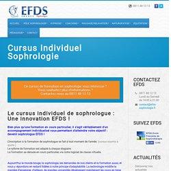 Cursus Individuel Sophrologie - EFDS