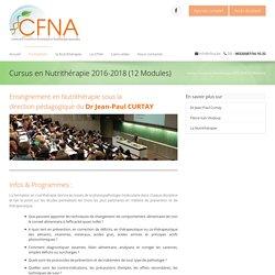 Cursus en Nutrithérapie 2016-2018 (12 Modules) - CFNA