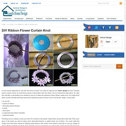 DIY Ribbon Flower Curtain Knot