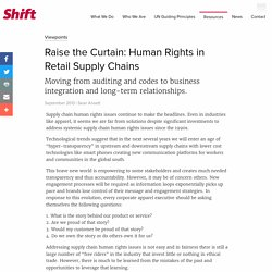 Raise the Curtain: Human Rights in Retail Supply Chains