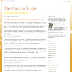 The Curtain Studio: 4 Simple Things to Consider Before Buying a Sofa Fabric