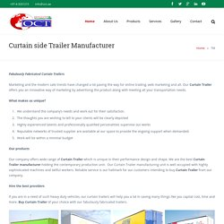 Curtain Side Trailer Manufacturer - UAE