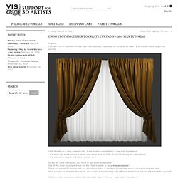 Using Cloth modifier to create curtains – 3Ds MAX Tutorial