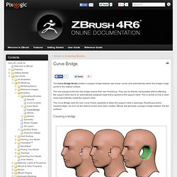 Curve Bridge » ZBrush Docs