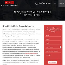 Short Hills Child Custody Lawyer