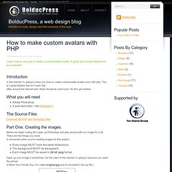 How to make custom avatars with PHP