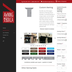 Restaurant awnings canopies