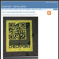 How To Embed A Custom Logo Design In A QR Code | Content Developer