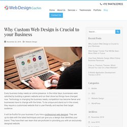 Why Custom Web Design is Crucial to your Business