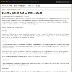 Custom desks for a small space | Because We Can