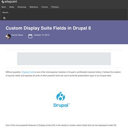 Custom Display Suite Fields in Drupal 8