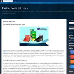 Custom Boxes with Logo: Find diversity of colors in display boxes