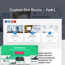 Custom Divi Blurbs – Part 1