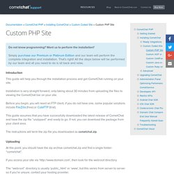 Custom PHP Site