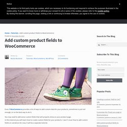 Add custom fields to products - Nicola Mustone