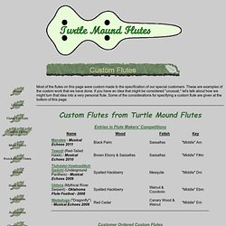 Custom Flutes from Turtle Mound Flutes
