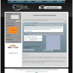 Custom Fractal Generator