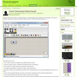 Custom Grasshopper Ribbon layouts