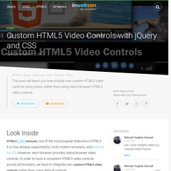 Custom HTML5 Video Controls with jQuery and CSS
