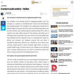 Custom suits online - Itailor - WriteUpCafe.com