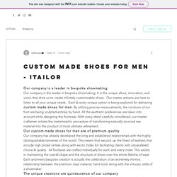 Custom made shoes for men - Itailor