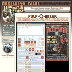 PULP-O-MIZER: the custom pulp magazine cover generator