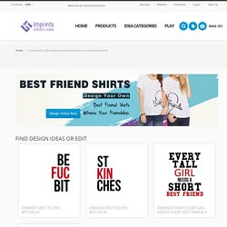 Custom funny bff matching shirts,tshirt ideas for best friend forever