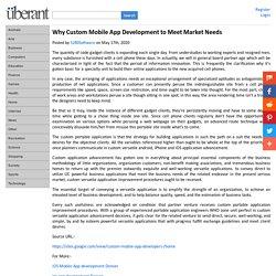 Why Custom Mobile App Development to Meet Market Needs