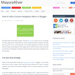 How to Add a Custom Navigation Menu in Blogger