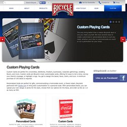 Custom Playing Cards - Bicycle® Playing Cards