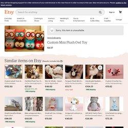 Custom Mini Plush Owl Toy by HollyGoBrightly