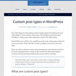 Custom post types in WordPress