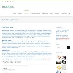 Custom Printing Services
