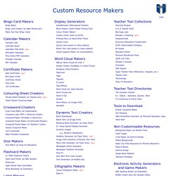 Custom Resource Makers