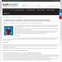Custom Polo t-Shirts - How to Choose the Right Style