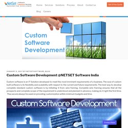 Custom Software Development @NETSET Software India