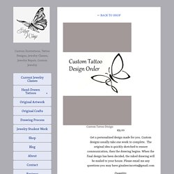 Custom Tattoo Design — Silver Wings Studio