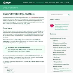 Custom template tags and filters