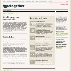 Custom Type - Type Together : High quality fonts and custom type design