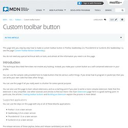Custom Toolbar Button - MDC