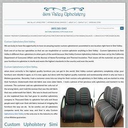 Custom Upholstery Simi Valley